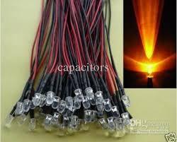 2018 3mm orange leds pre wired led 12v l bulb quality from