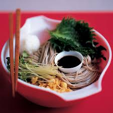 Japanese Pumpkin Salad Recipe by Japanese Salad With Shiso Leaves Sake And Soba Noodles