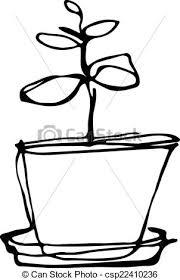 croquis fleur salle pot fleurs noir blanc vecteurs search