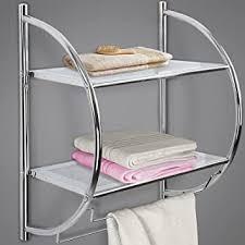 badezimmer regal mit 2 ablagen duschablage duschregal wandregal badezimmer möbel 54 x 45 x 26 cm
