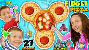 FIDGET SPINNER PIZZA 🍕 27 HAND SPINNERS COLLECTION CHALLENGE