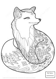 Coloring Pages Zentangle Lovely Squirrel Arts Culture