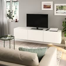 bestå tv bank mit türen weiß lappviken weiß 180x42x38 cm