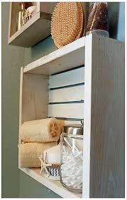 White Nautical Beach Shelf Bathroom Crate