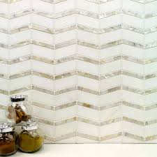 alerion thassos and of pearl tile tilebar