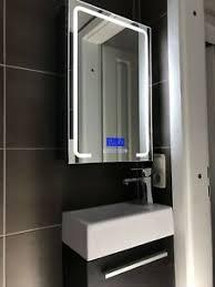 details zu led spiegelschrank 60x40 edelstahl bluetooth radio temperatur uhr bad wc