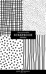 Free Printable Scrapbook Paper Black And White PDF Download