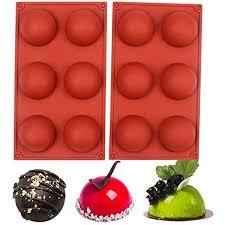 baker depot silikonform mit 6 löchern für schokolade kuchen gelee pudding handgefertigte seife runde form durchmesser 6 4 cm 2 stück m