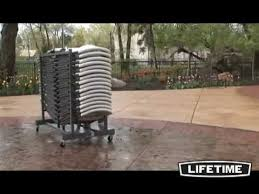 Lifetime Stacking Chairs 2830 by Lifetime Chair Cart Youtube