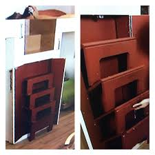 Cwp New River Cabinets by Stairs To A Loft Are Hidden In A Cabinet Then Fold Out When Needed