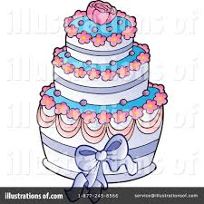 Royalty Free RF Wedding Cake Clipart Illustration by visekart