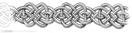 Heres A Little Bit Of Celtic Knotwork Band With Repeatable Pattern Armband Tattoo D