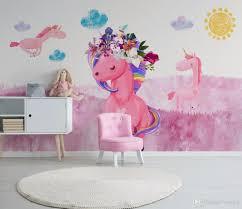 großhandel fototapete 3d bunte graffiti einhorn wandbilder kinderzimmer wohnzimmer schlafzimmer hintergrund tapete tapete vvsong 14 61