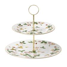 Wild Strawberry 2 Tier Cake Stand Wedgwood