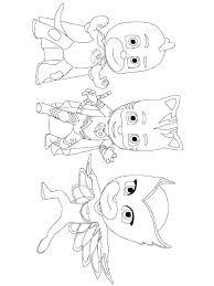 Pj Mask Coloring Pages Pdf Masks Owlette