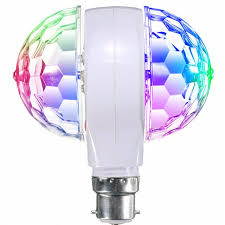 rgb led stage light bulb e27 b22 3w rotating ktv bar disco
