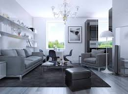 Living Room In Modern Style Elegant With White Walls