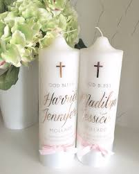 Baptism Decoration Ideas Pinterest by Baptism Candle With Printed Cross Personalised Candles