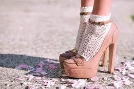 Pink Shoes Prada Nude Socks And Sandals Vintage Pumps Tumblr Peach Heels High