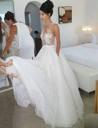 White Wedding Dresses A Line Wedding Dress Lace Wedding Dress