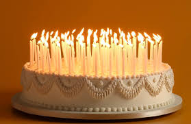 birthday cake with lots of candles 4