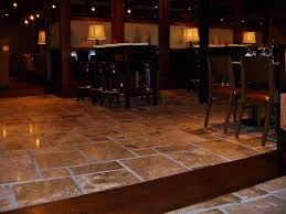 travertine floors set in the versaille pattern at a downtown