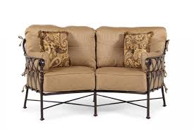 Mathis Brothers Patio Furniture by Castelle Veranda Crescent Loveseat Mathis Brothers Furniture