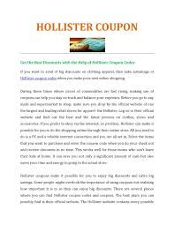 Calaméo - Enjoy Shopping With Hollister Coupon Mcgraw Hill Promo Code Connect Sony Coupons Hollister Online 2019 Keurig K Cup Coupon Codes Pinned December 15th Everything Is 50 Off At 20 Off Promo Code September Verified Best Buy Camera Enterprise Rental Discount Free Shipping 2018 Ninja Restaurant 25 The Tab Abercrombie Fitch And Their Kids Store Delivery Sale August Panasonic Lumix Gh4 Price Aw Canada September Proderma Light Babies R Us Marley Spoon Airline December Novo Ldon