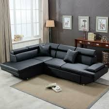 100 Modern Sofa Design Pictures Details About Contemporary Sectional Bed Black With Functional Armrest Back L