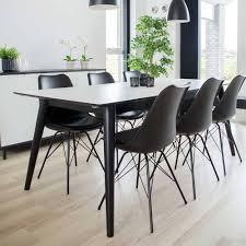 skandi essgruppe in schwarz weiß ilagra 7 teilig