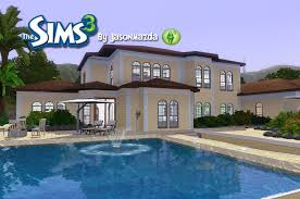 Sims 3 Big House Floor Plans by The Sims 3 House Designs Mediterranean Mansion Youtube