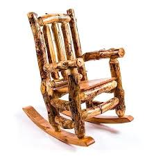 Log Rocking Chair Rustic Cabin Style Chairs