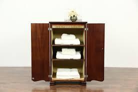 Pooley Signed Antique Mahogany Record Cabinet Pat 1910 Harp