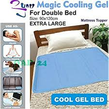 Cooling Bed Topper by Magic Cooling Gel Blue Cool Pad Mat Orthopedic Mattress Topper