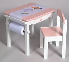Art Table And Chair Set In Pink