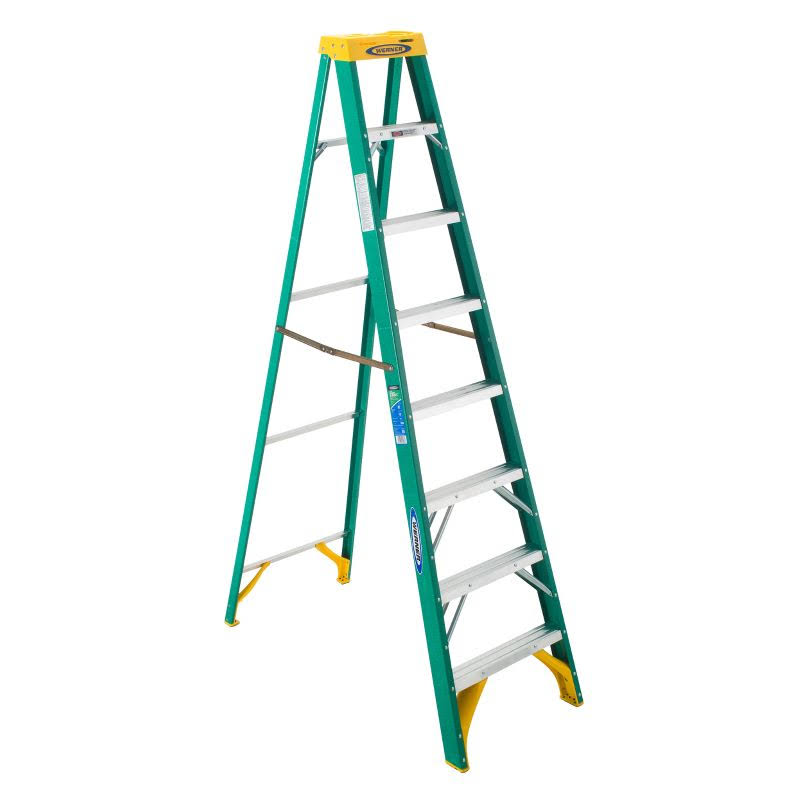 Werner 5908 225-Pound Duty Rating Type II Fiberglass Stepladder - 8-Foot