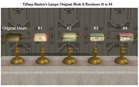 Bankers Lamp Shade Only by Mod The Sims Antique Banker U0027s Lamps Tiffany Recolours