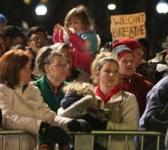 Christmas Tree Shop Watertown Ny Hours by Thousands Protest Eric Garner Chokehold Case In Downtown Boston
