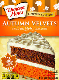 New Limited Edition Cake And Cupcake Mixes For Fall From Duncan