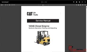 100 Cat Lift Trucks Erpillar Truck All Models Service Manual And Wiring Diagram