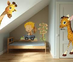 chambre de b b jungle stickers bébé girafe garçon vente stickers animaux de la jungle