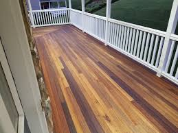 finished mahogany porch with penofin for hardwood deck stain