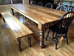 Dining Bench Plans Delightful Ideas Table Beautifully Idea Room