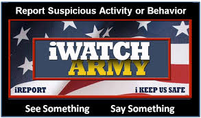 Army Alms Help Desk by Iwatch See Something Say Something