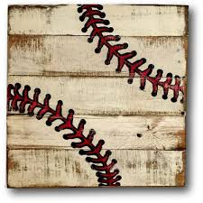 Baseball Wall Art Sports Decor Rustic Vintage Sign 40 Liked On Polyvore