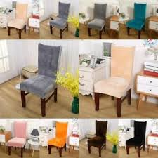Image Is Loading UK Stretch Fox Velvet Chair Cover Removable Dining