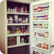 Pantry Cabinet Organization Ideas by Spice Cabinet Organizer Using Magnetic Boards And Tins Spice Tins
