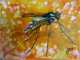 Fly Oil Painting On Canvas Animal Artwork Insect Bug Bugs Art Cute Positive Traditional Realism Deco