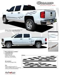 2013-2017 Chevy Silverado 1500 Pickup Truck CHAMP Decals 3M Pro ... 2015 2016 2017 2018 Chevy Colorado Truck Bed Stripes Antero Decals Metal Mulisha Skull Circle Window X22 Graphic Decal Best Of Silverado Rocker Drag Racing Nhra Rear Nostalgia Amazoncom Chevrolet Bowtie With Antlers Sticker Wave Red Vinyl Half Wrap Xtreme Digital Graphix More Rally Edition Unveiled New Z71 4x4 Gmc Canyon Tahoe Stickers For Trucks 42015 1500 Plus Style