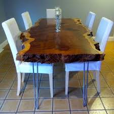 Live Edge Redwood Kitchen Table By Sean Kearns